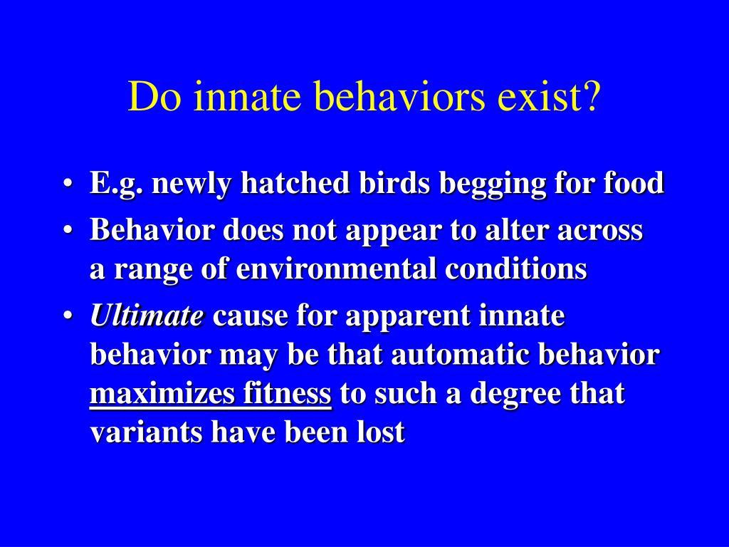 Do innate behaviors exist?