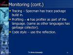 monitoring cont