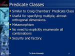 predicate classes