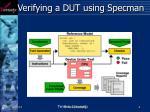 verifying a dut using specman