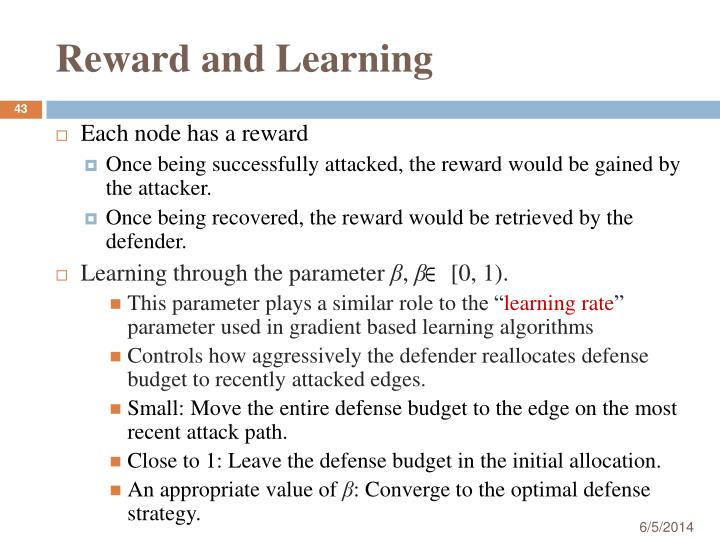 Reward and Learning