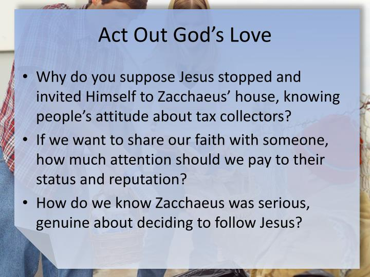 Act Out God's Love