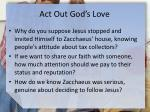 act out god s love1