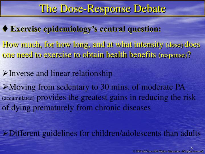 The Dose-Response Debate