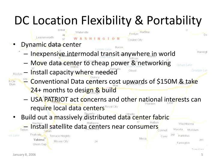 DC Location Flexibility & Portability