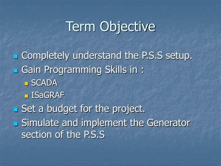 Term Objective