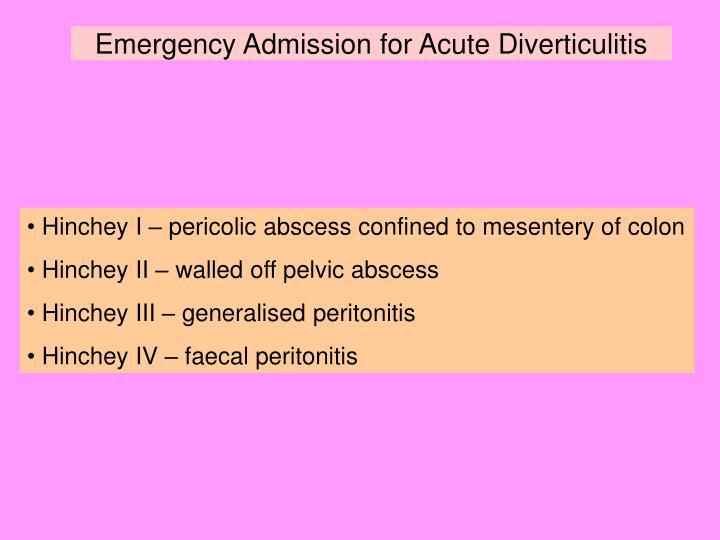 acute diverticulitis essay