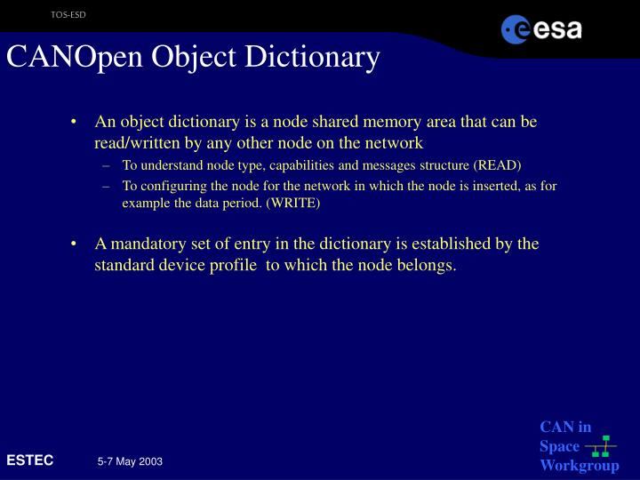 CANOpen Object Dictionary
