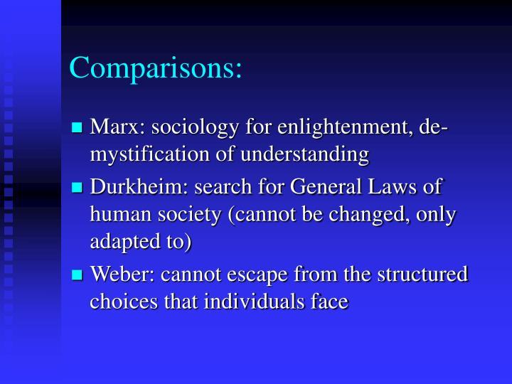 Comparisons: