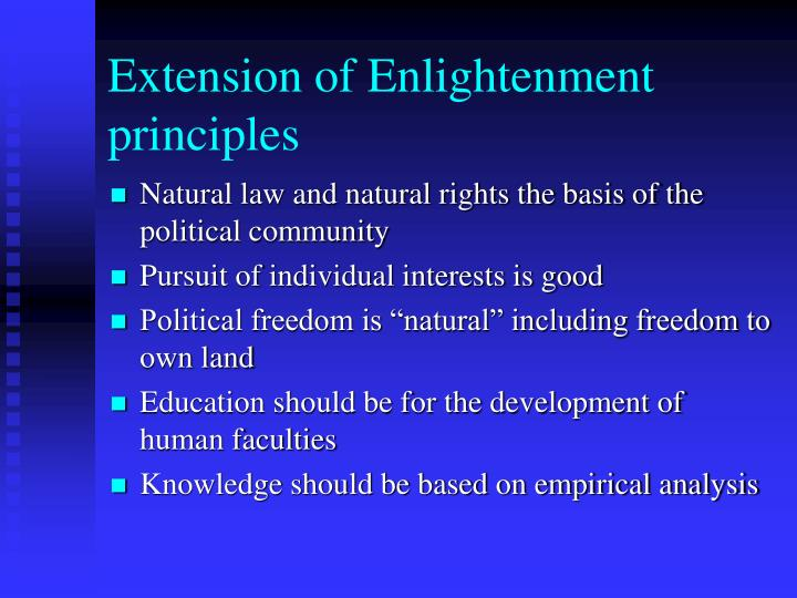 Extension of Enlightenment principles