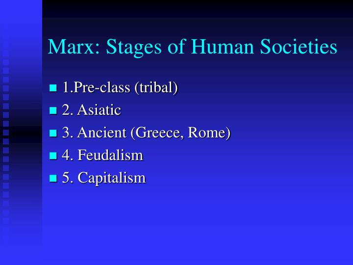 Marx: Stages of Human Societies