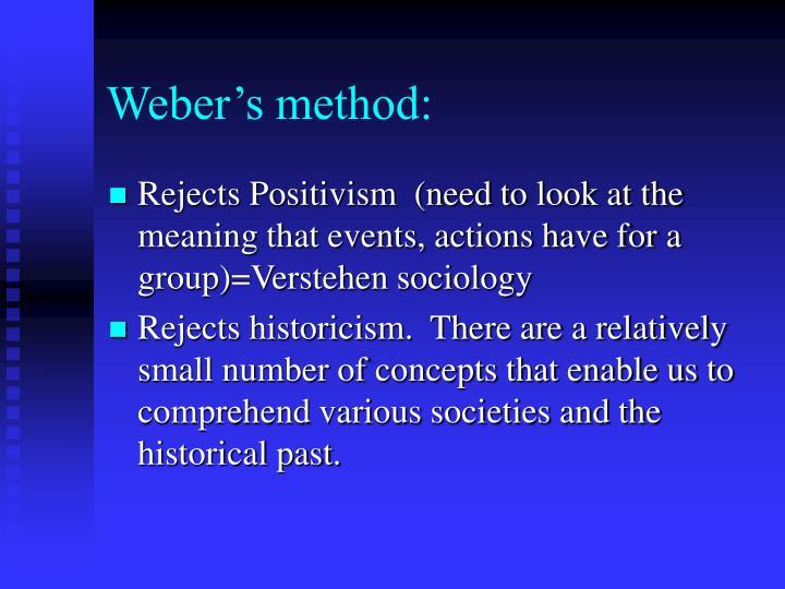 Weber's method:
