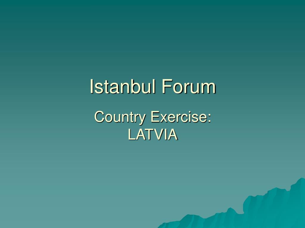 Istanbul Forum