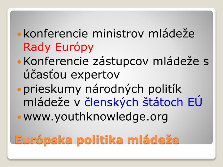 konferencie ministrov mládeže