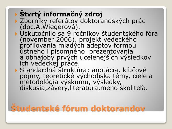 Štvrtý informačný zdroj