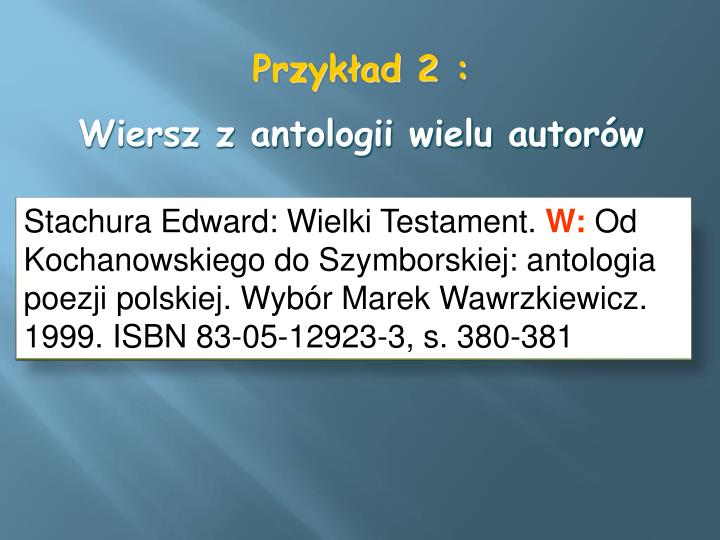 Stachura Edward: Wielki Testament.