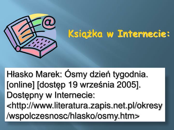 Hłasko Marek: Ósmy dzień tygodnia.