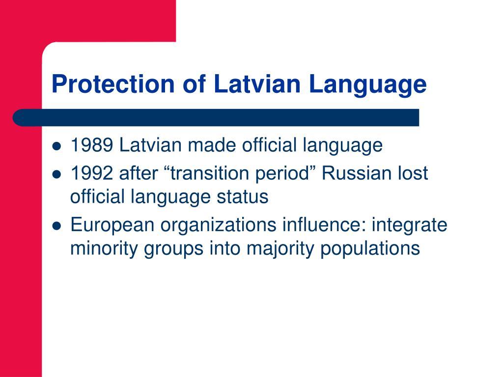 Protection of Latvian Language