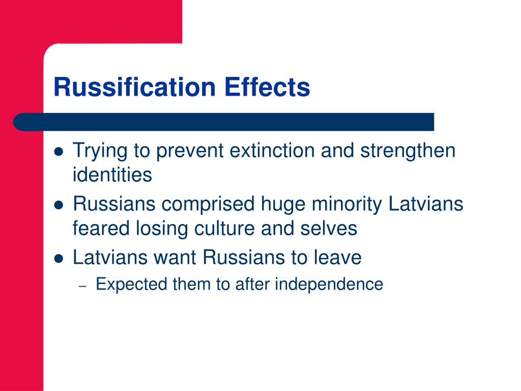 Russification Effects