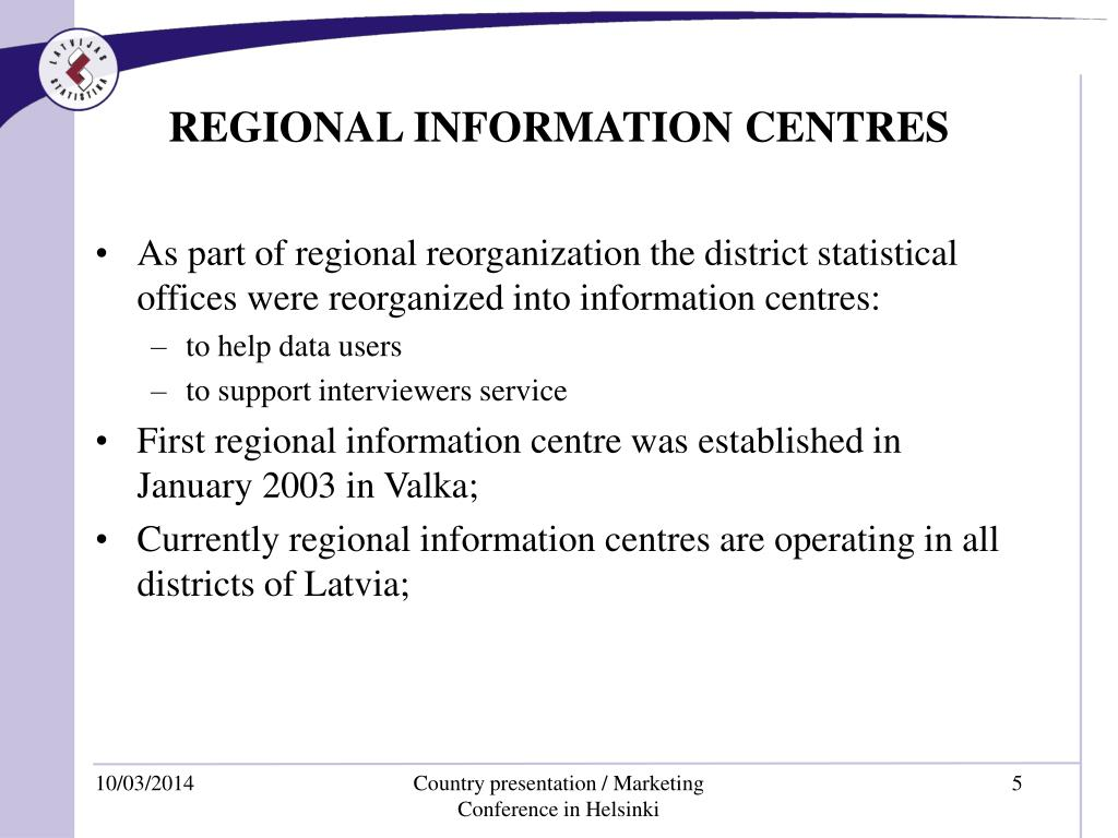 REGIONAL INFORMATION CENTRES