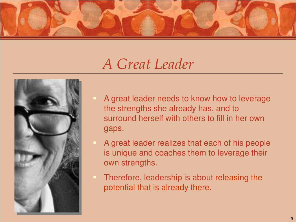 A Great Leader