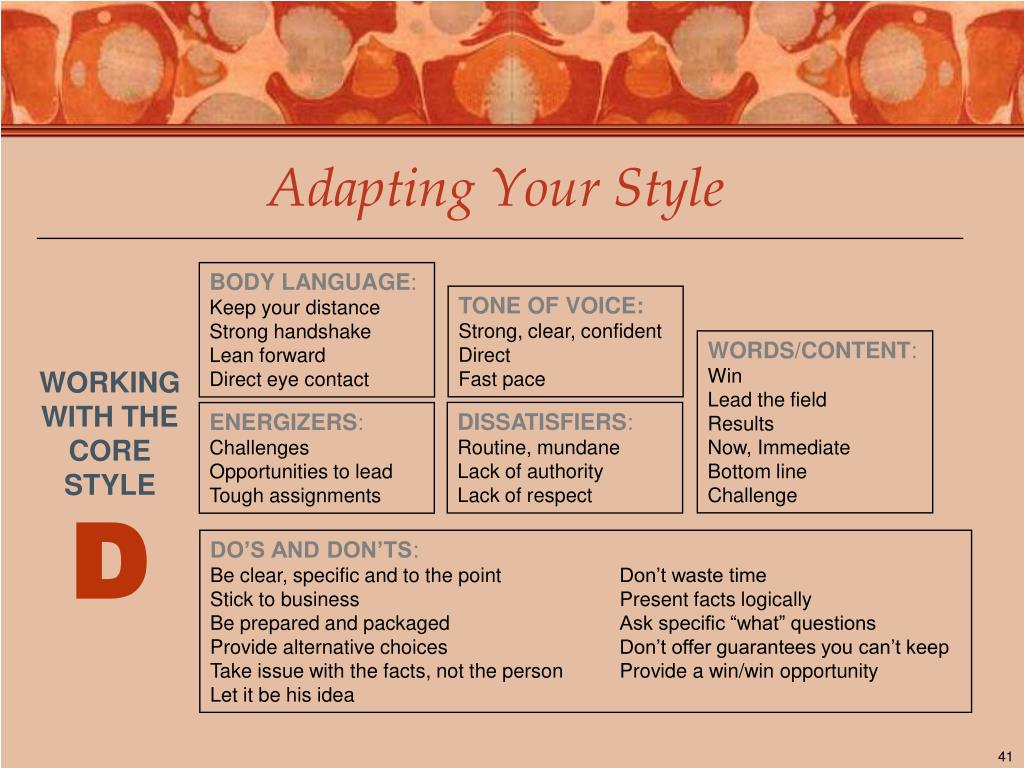 Adapting Your Style