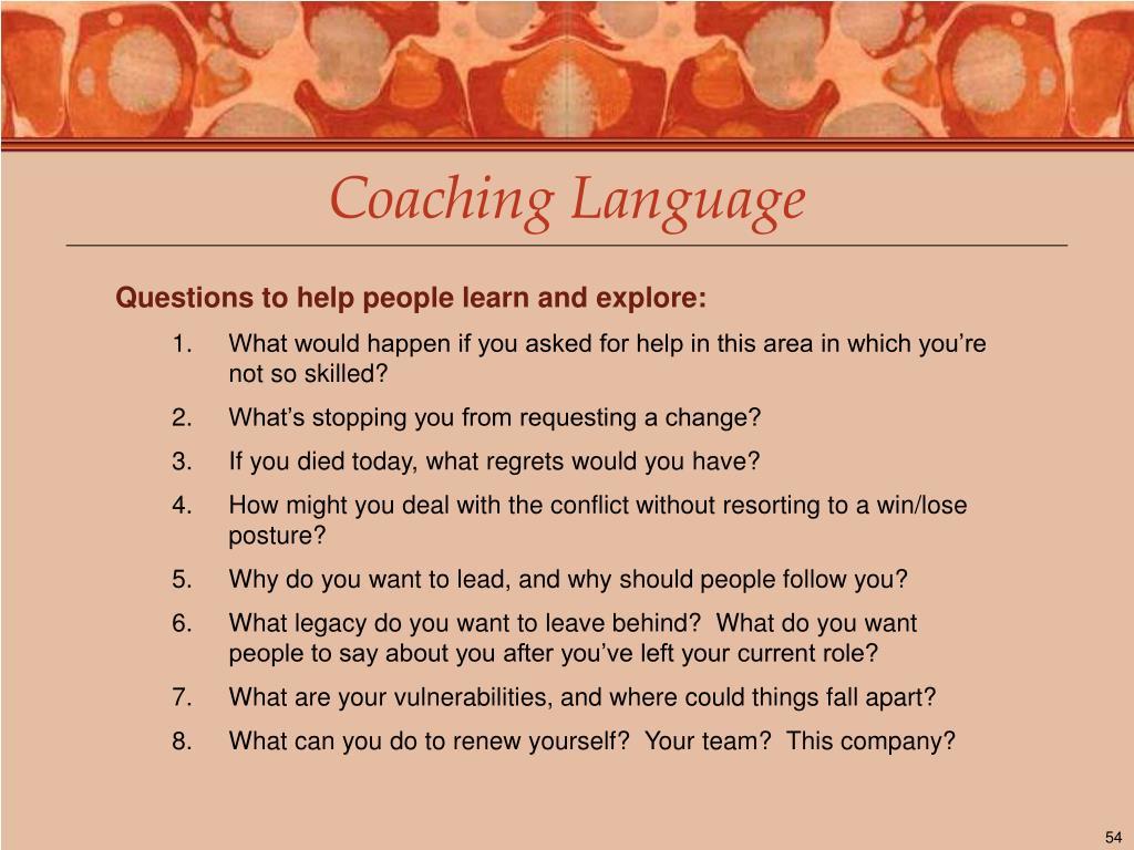 Coaching Language