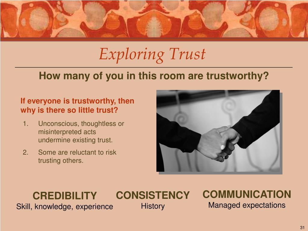 Exploring Trust