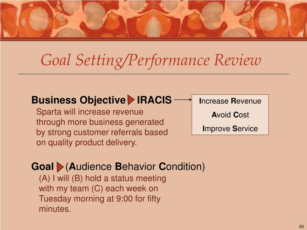 Goal Setting/Performance Review