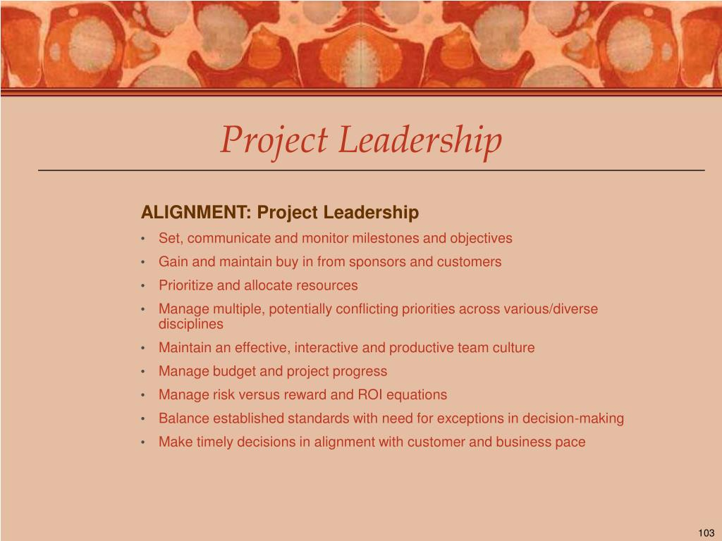 ALIGNMENT: Project Leadership