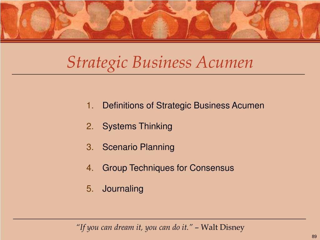 Strategic Business Acumen