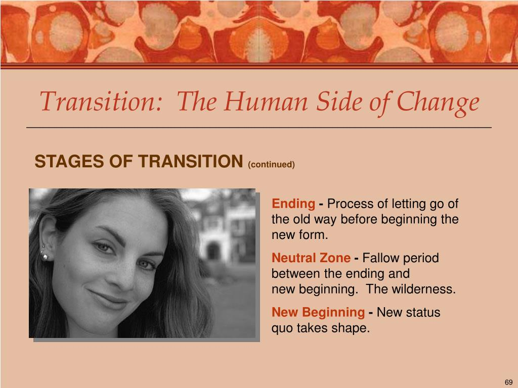 Transition:  The Human Side of Change