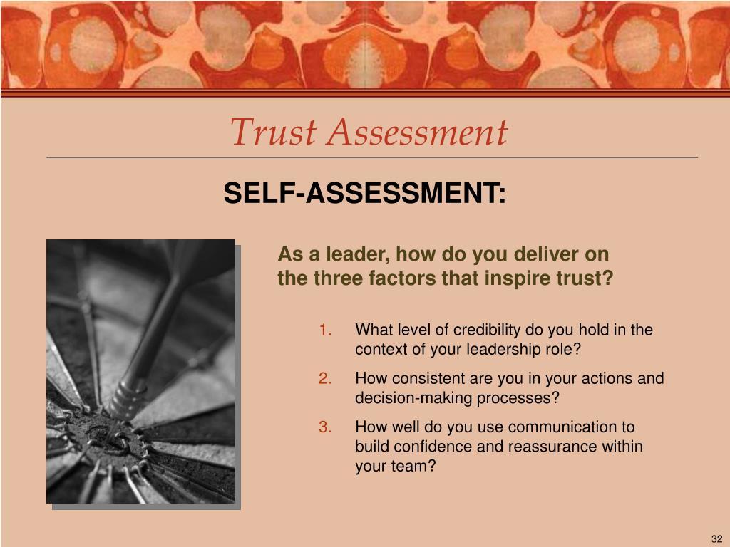 Trust Assessment