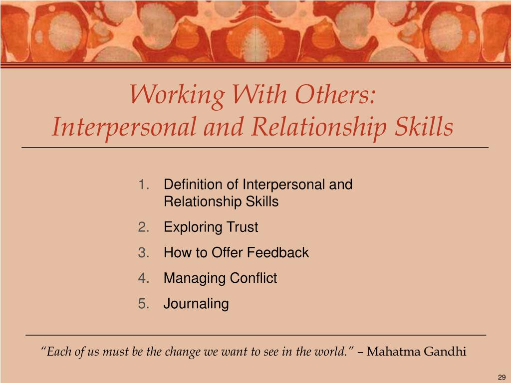 Working With Others: