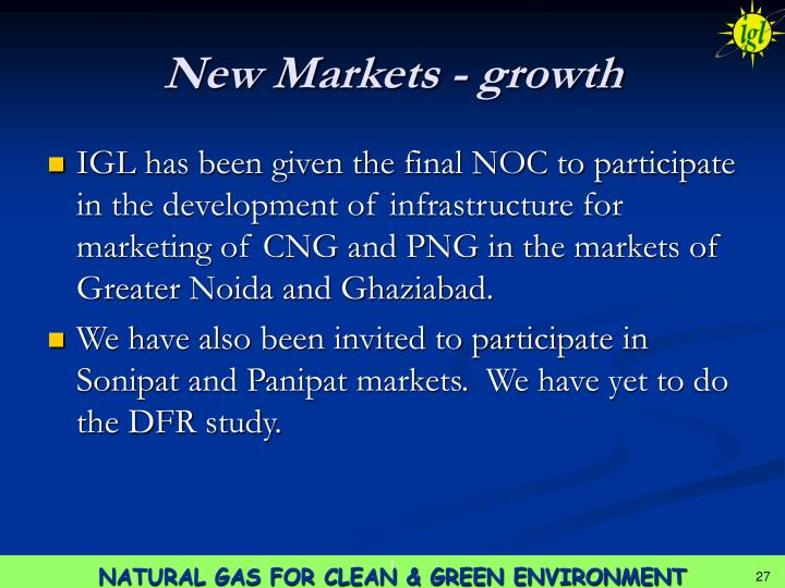 New Markets - growth