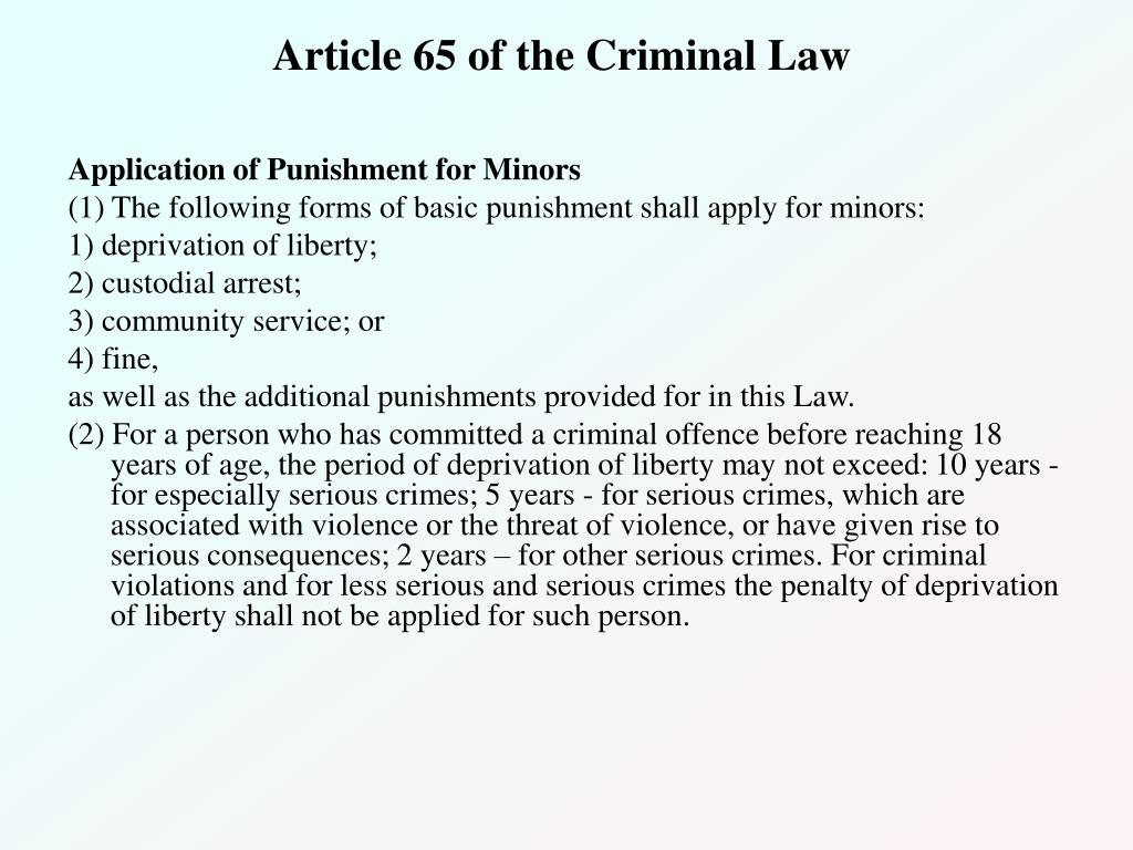 Article 65 of the Criminal Law