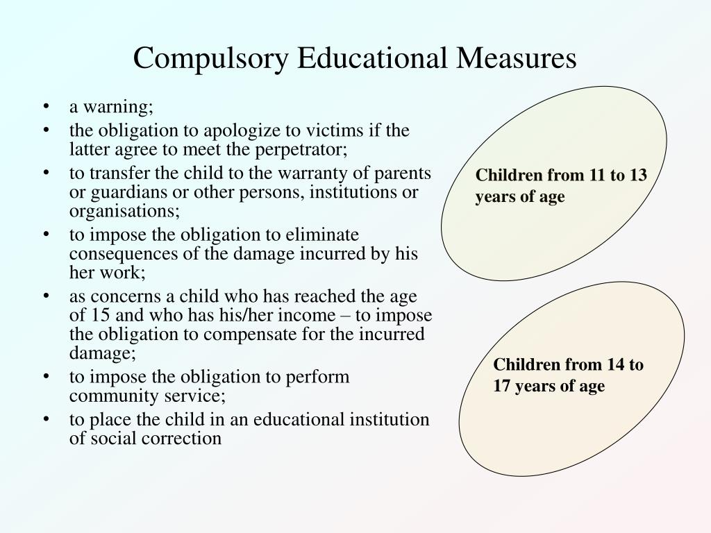Compulsory Educational Measures