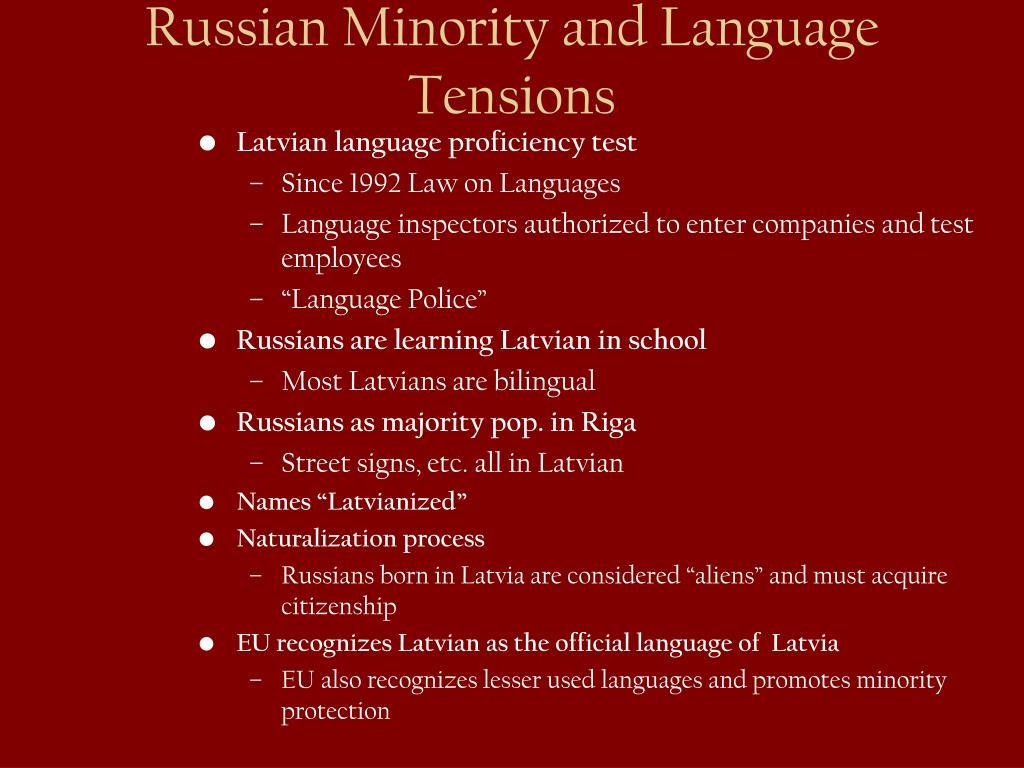 Latvian language proficiency test
