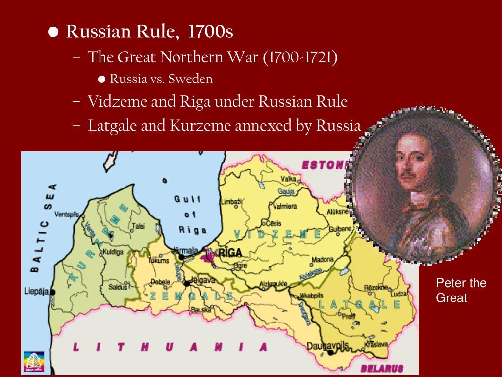 Russian Rule,  1700s