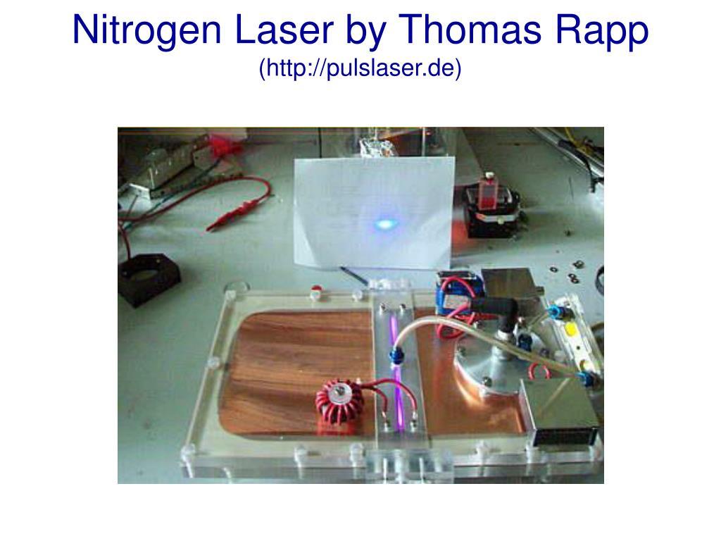 Nitrogen Laser by Thomas Rapp