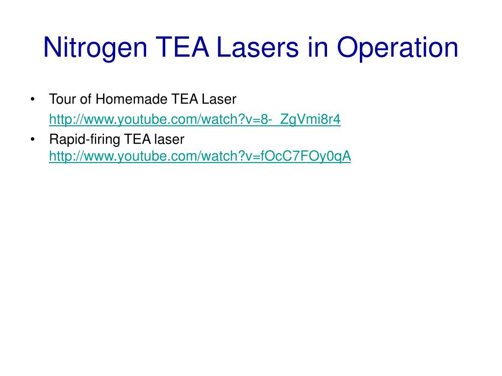 Nitrogen TEA Lasers in Operation
