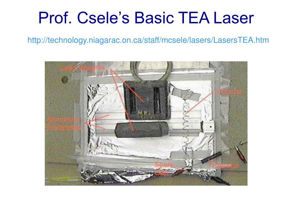 Prof. Csele's Basic TEA Laser