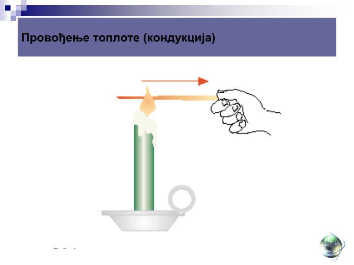 Провођење топлоте (кондукција)