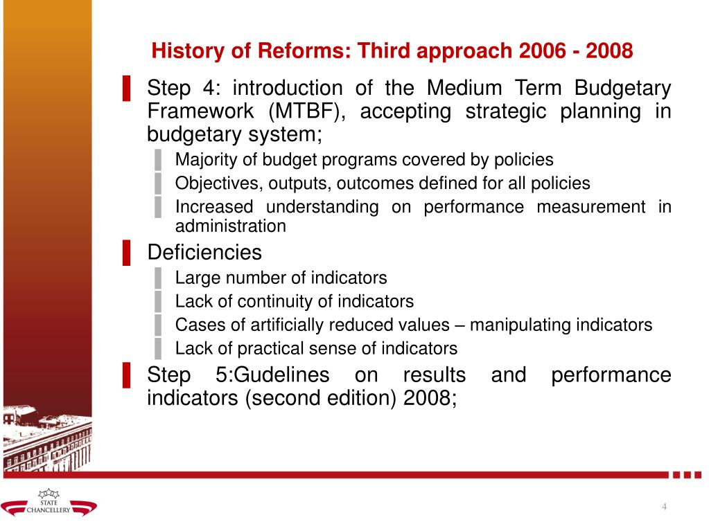 History of Reforms: Third approach 2006 - 2008