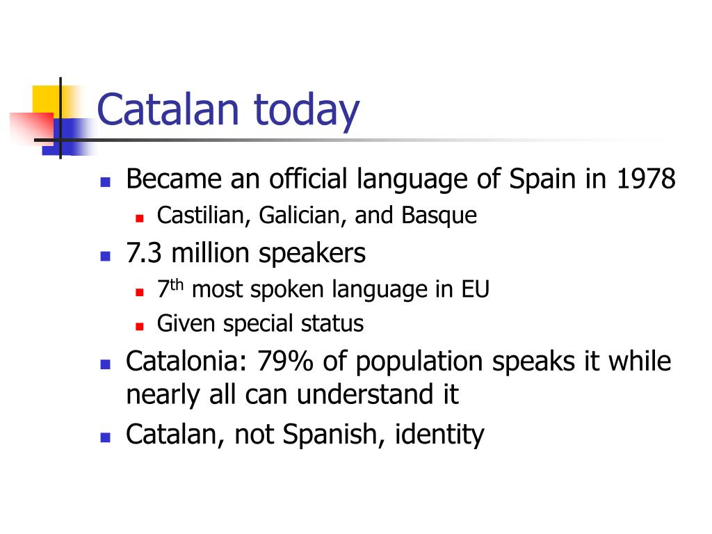 Catalan today