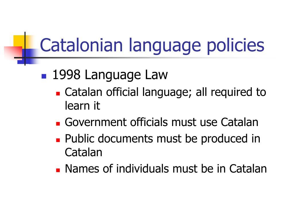 Catalonian language policies