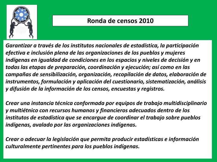 Ronda de censos 2010