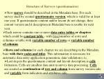 structure of surveys questionnaires