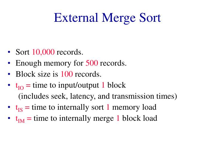 External Merge Sort