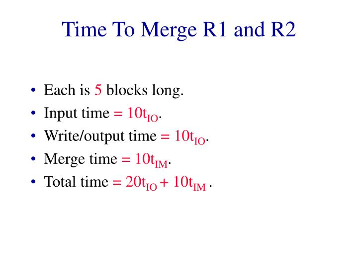 Time To Merge R1 and R2